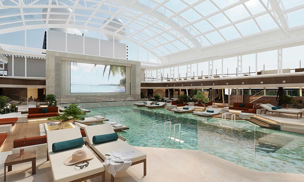 Una delle piscine di Explora I