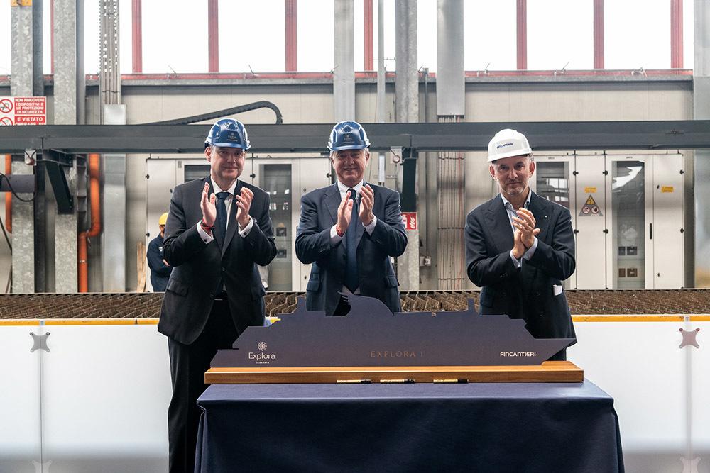 Michael Ungerer, Pierfrancesco Vago e il direttore generale di Fincantieri Fabio Gallia (ph. Ivan Sarfatti)