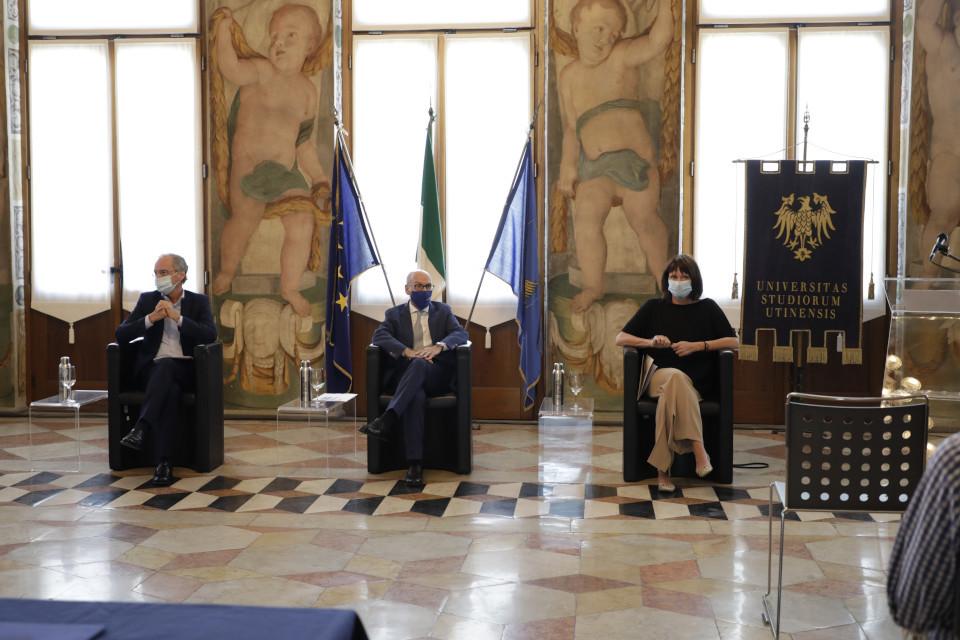 Da sinistra Morandini, Pinton e Rosolen