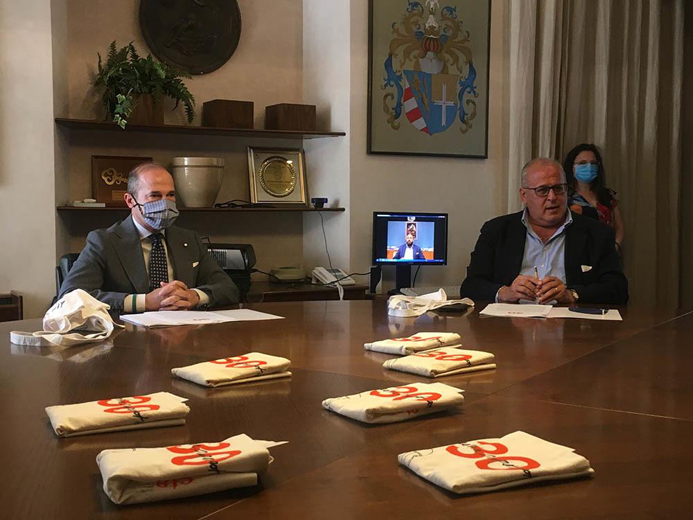 Il sindaco di Gorizia, Rodolfo Ziberna (a destra), e l'assessore alla cultura Fabrizio Oreti