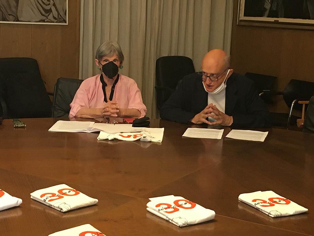 La presidente del CTA Antoniettamaria Caruzzi con il direttore artistico Roberto Piaggio