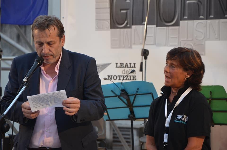 Cristina Visintini assieme al sindaco di Ronchi, Livio Vecchiet