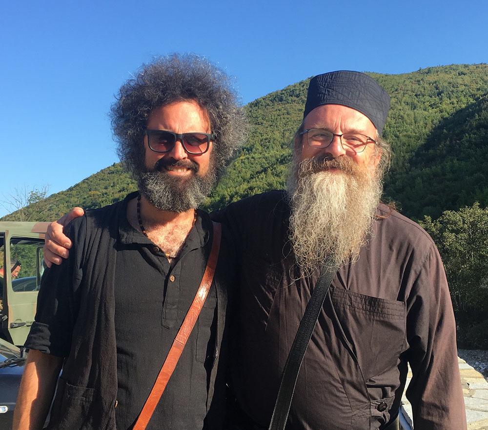 Simone Cristicchi e Padre Benedetto