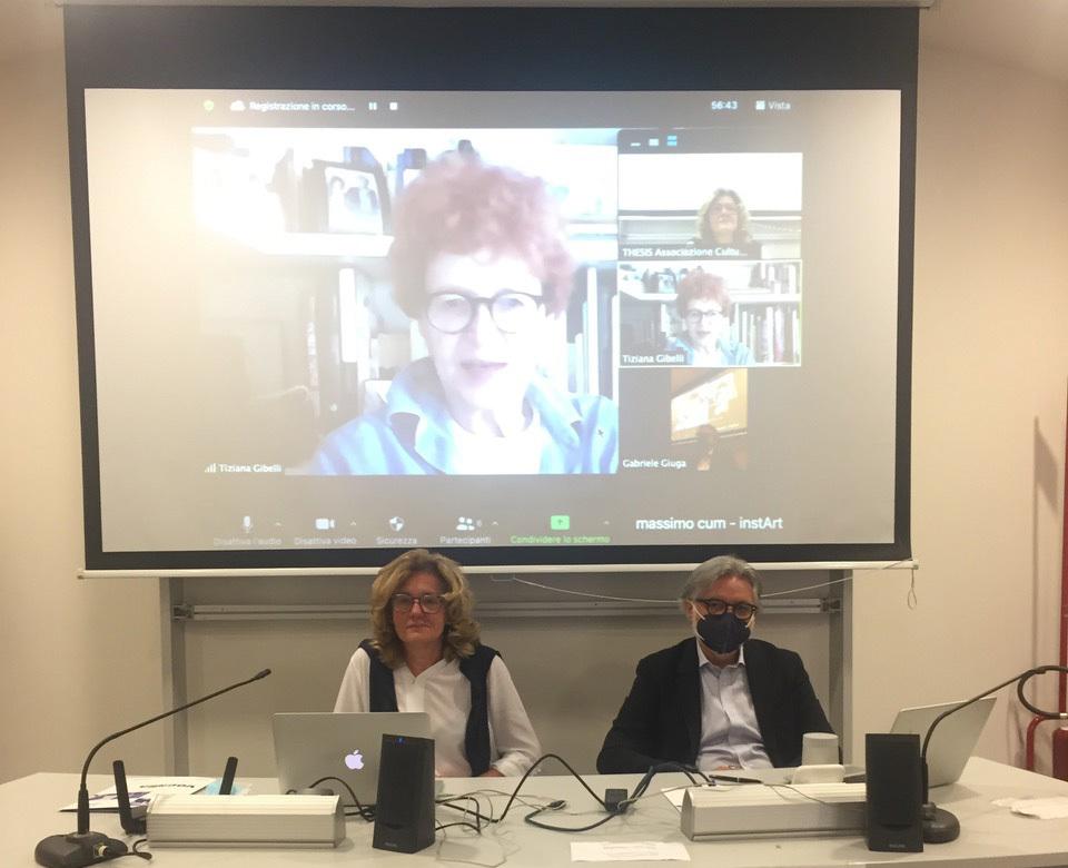 Olivetto, Giuga e, collegata in remoto, Gibelli durante la conferenza stampa di presentazione