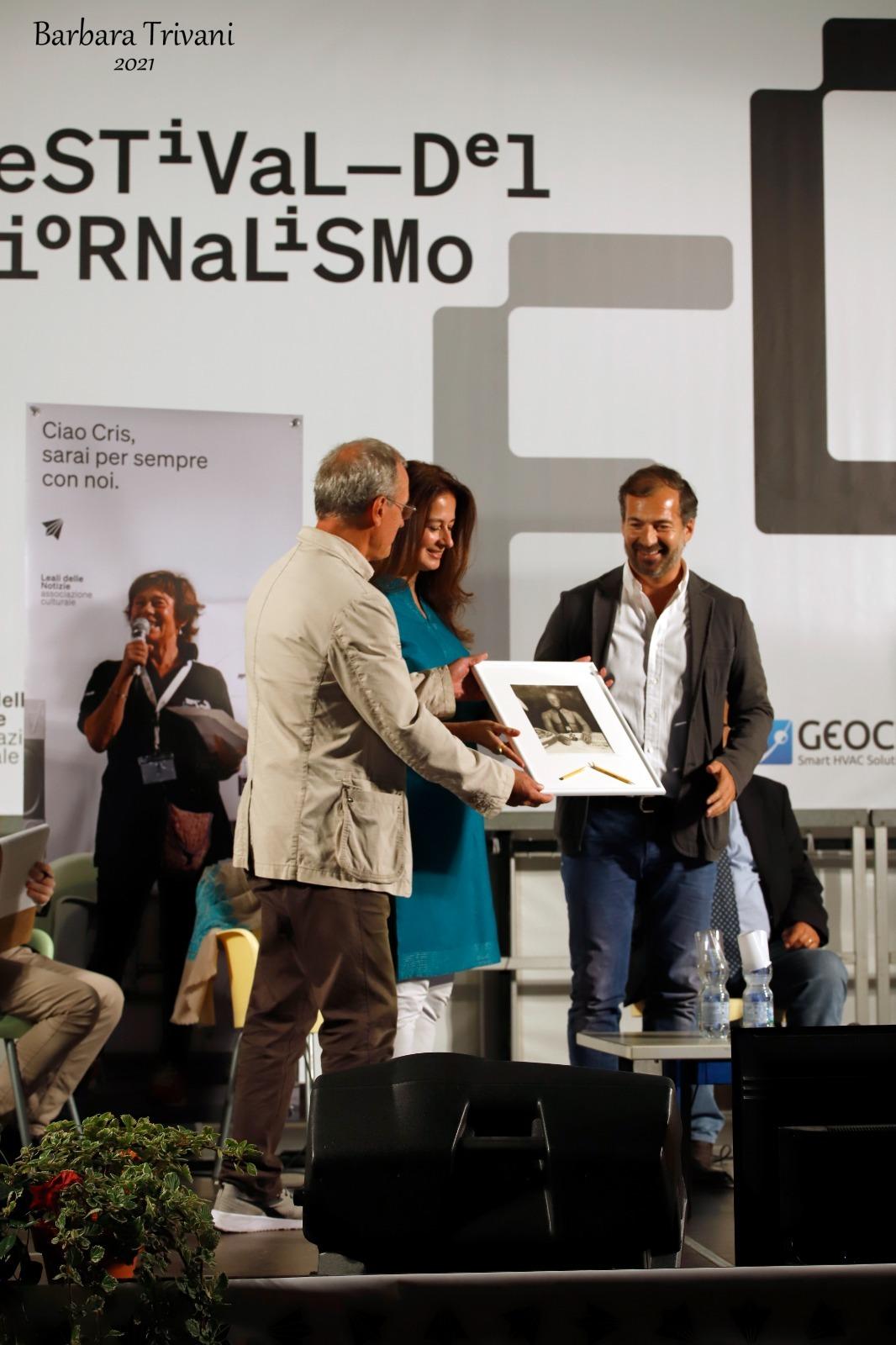 Paolo Berizzi, Corinne Vella e Fabio Rinaldi