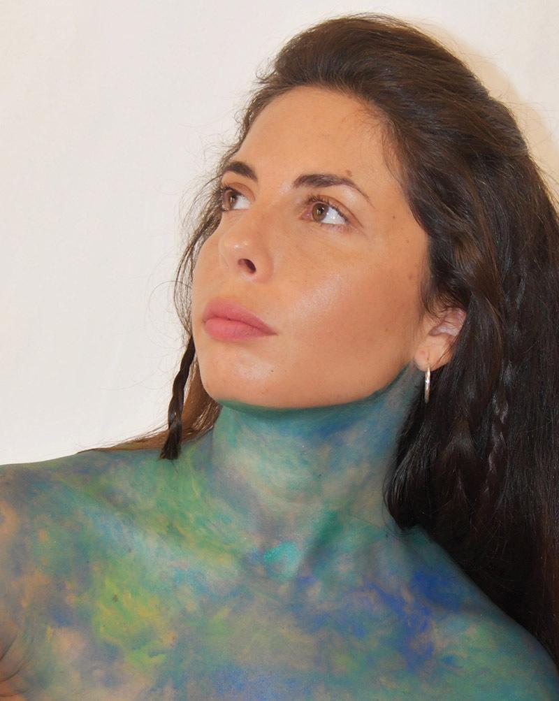 Opere bodypainting di Ilaria Busecchian