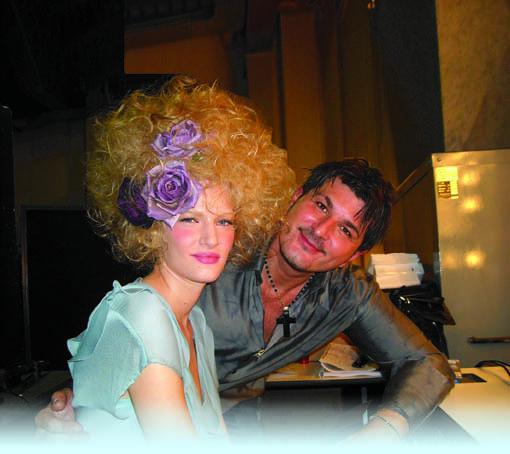 Paolo Ottoboni assieme ad una modella