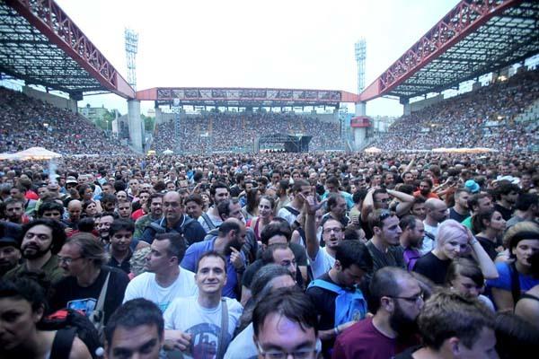 Trieste, concerto dei Pearl Jam