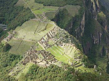 Veduta aerea del Machu Picchu (ph. C. Pizzin)