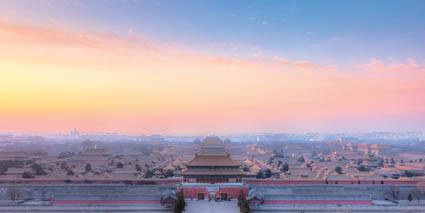 Panorama sulla città proibita di Pechino, che sorge nello stesso punto in cui si trovava il palazzo del Khan mongolo all'epoca di Odorico da Pordenone