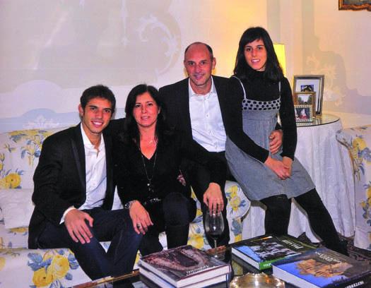 De Agostini con la sua famiglia