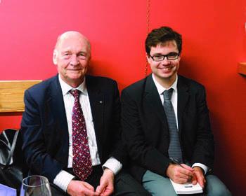 Pierantonio Costo, a sinistra, assieme al redattore di iMagazine, Vanni Veronesi